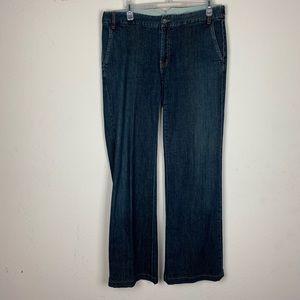 Banana Republic- Dark Wash Wide Leg Jeans size 8